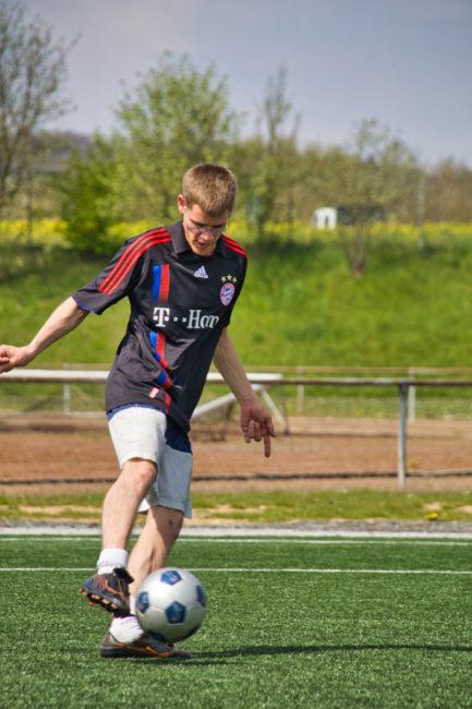Andre König beim Fußball