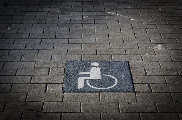 Symbol: Behindertenparkplatz