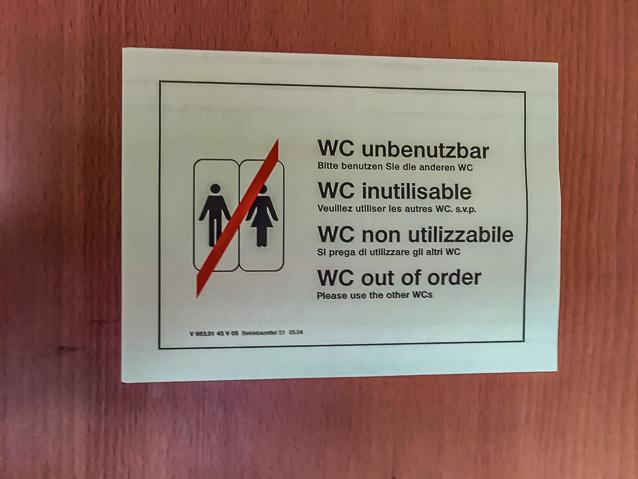 WC unbenutzbar