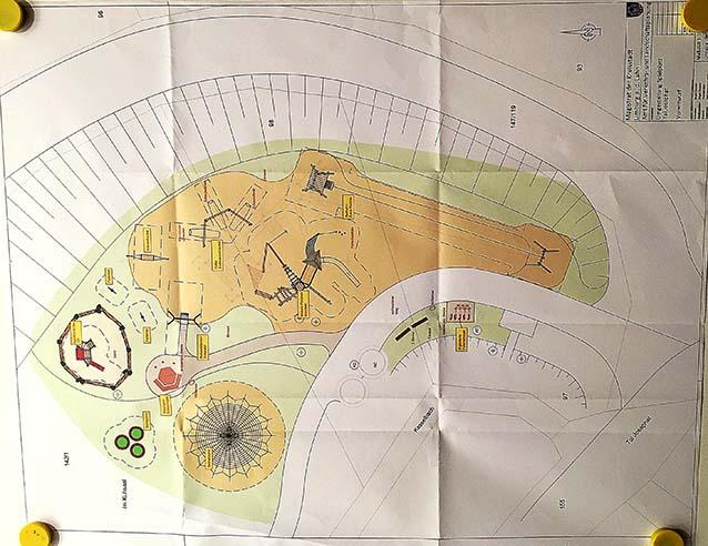 Plan- Vorentwurf: Umgestaltung des Spielplatz Tal Josaphat