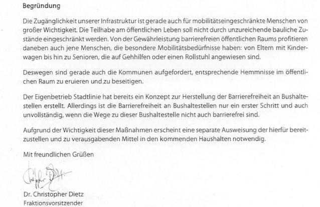 Screenshot: Begründung CDU-Antrag