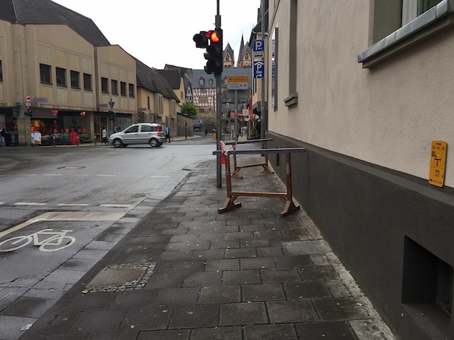 Barriere: Bürgersteig