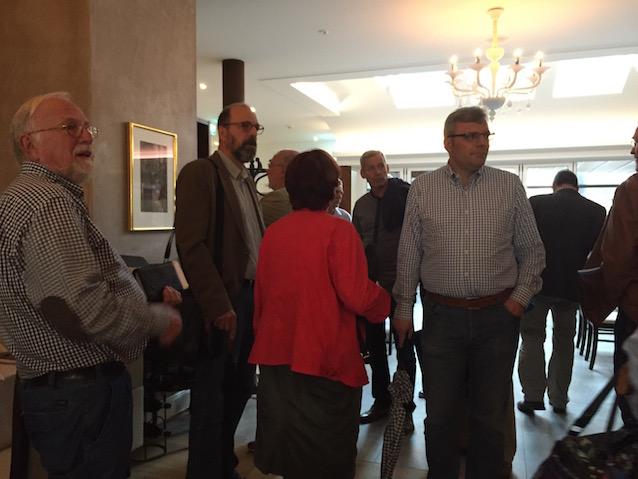 Foto: Bürgermeister Dr. Marius Hahn und Denkmalbeiratsmitglied Axel Schmitt