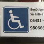 Stadthalle GmbH Hinweisschild