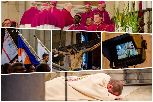 Collage-Bischofsweihe