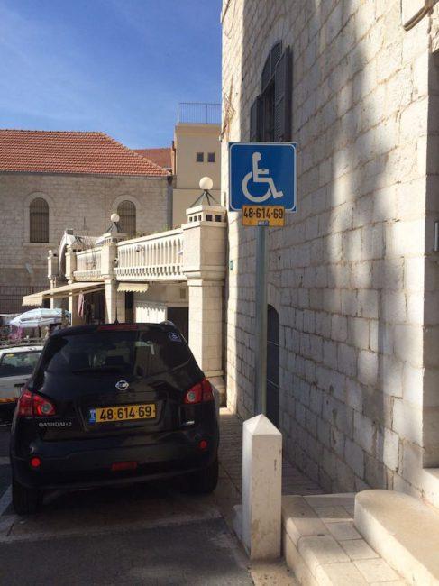 Behindertenparkplatz in Nazareth
