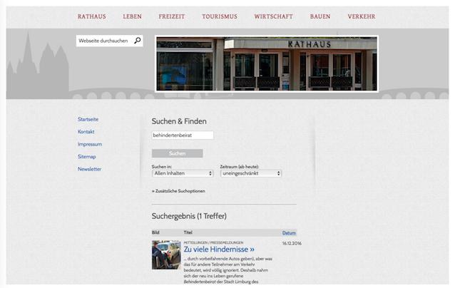 Screenshot: Stadt Limburg