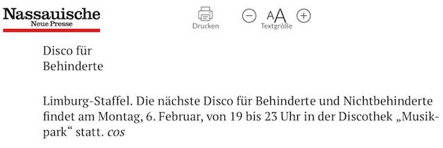 Disco für Behinderte