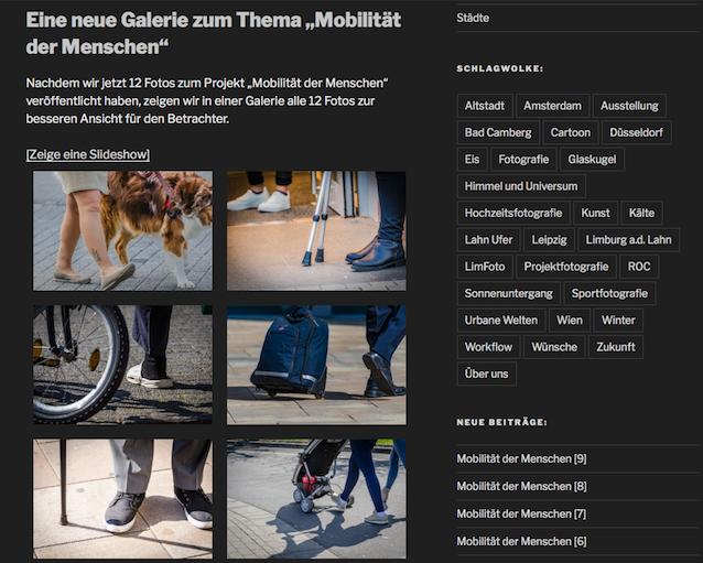 Projekt Galerie - Mobilität der Menschen