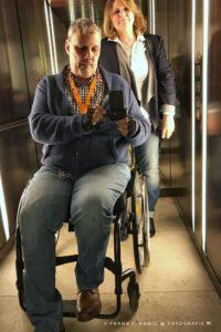 Aufnahme aus dem Inneren des Aufzuges.