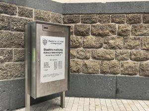 Briefkasten der Verwaltung