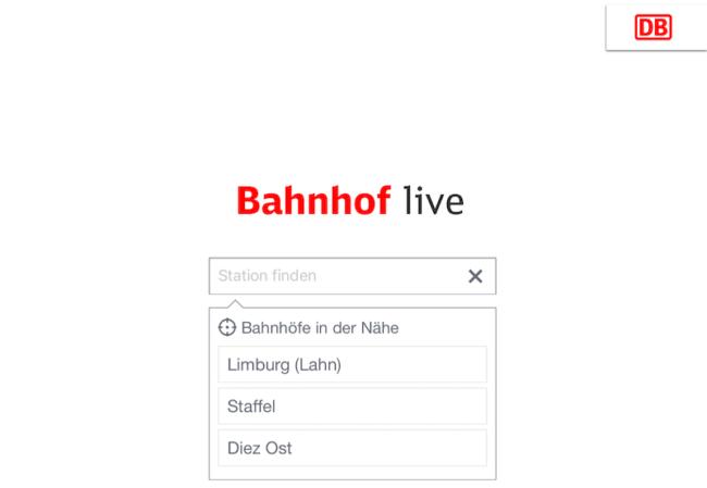 "Neue Info-App ""DB Bahnhof live"""