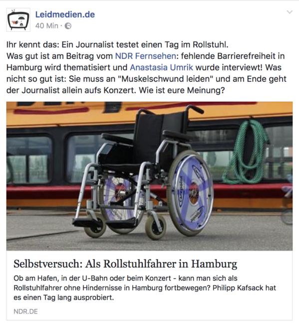 Leidmedien bei Facebook