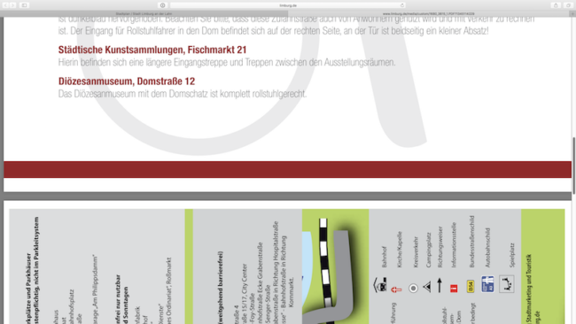 Stadtplan für Personen mit eingeschränkter Mobilität als PDF