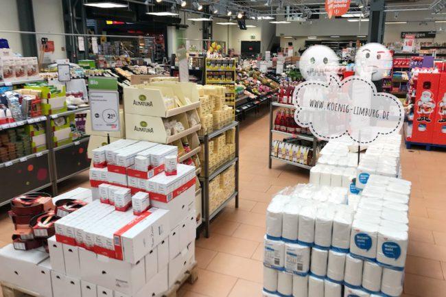 Barrieren im Supermarkt