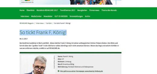 So tickt Frank F. König