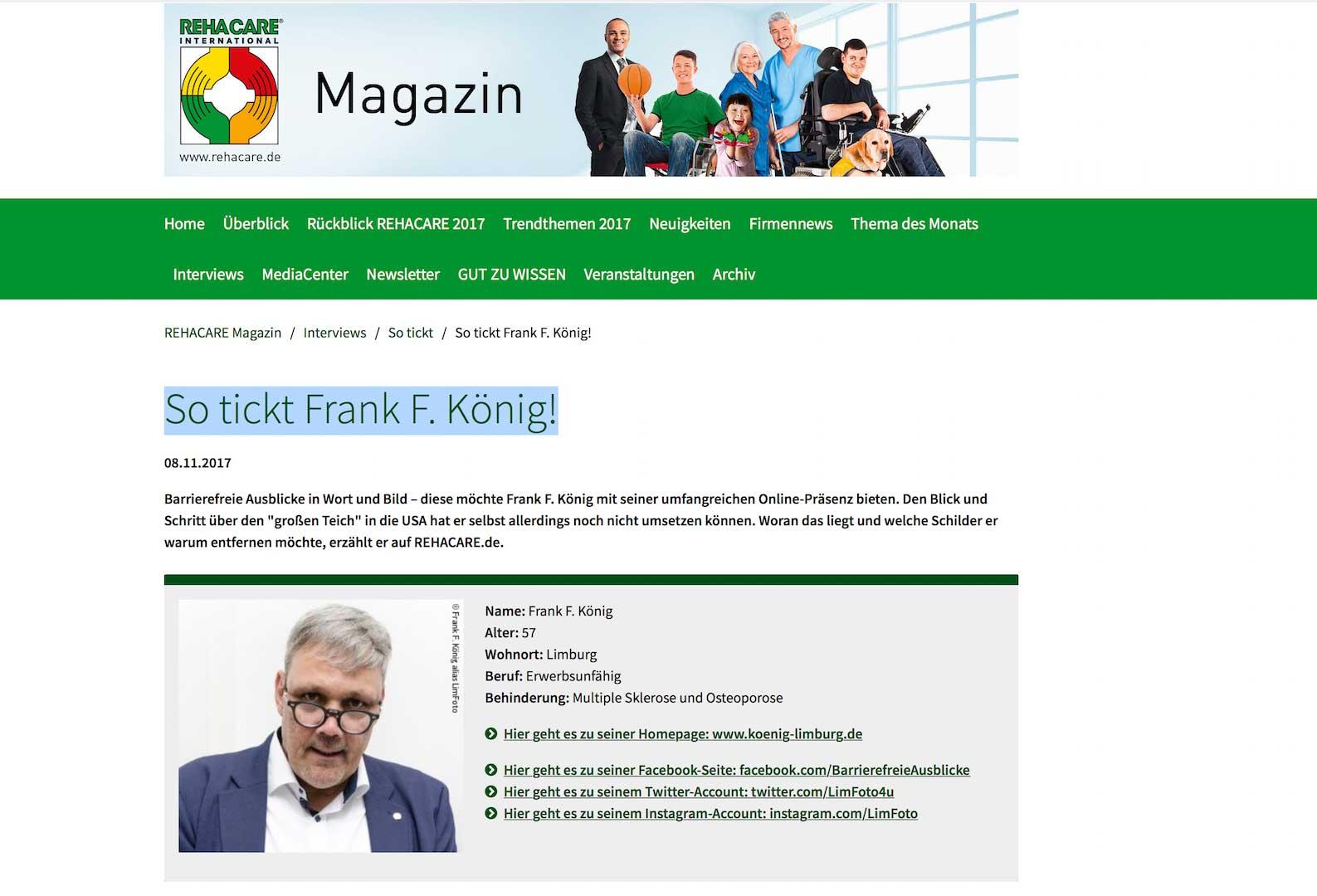 So tickt Frank F König
