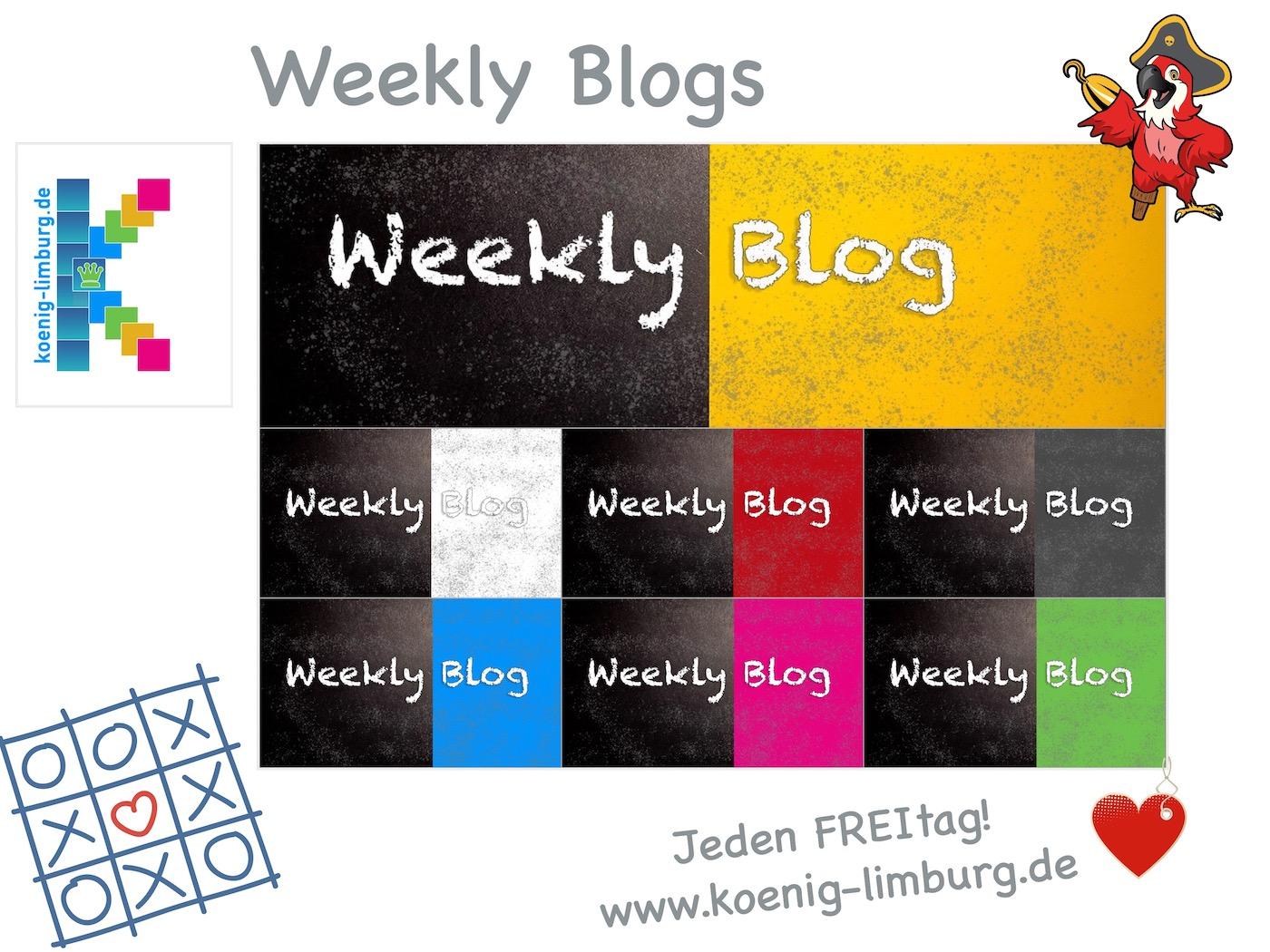 Collage zum Weekly Blog