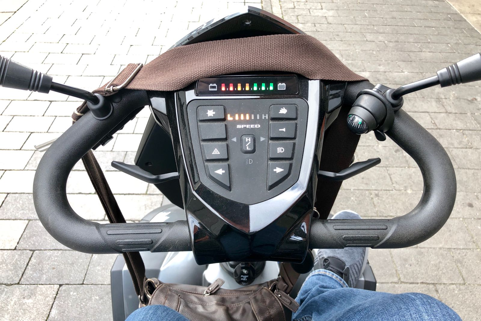 Cockpit meines E-Scooter's