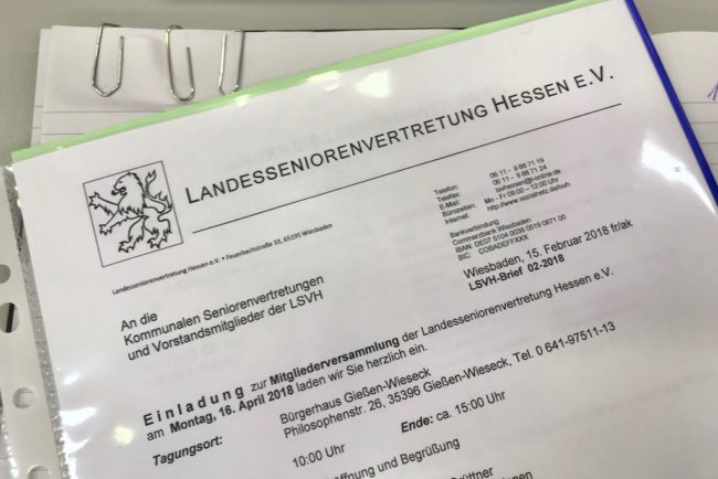 Landesseniorenvertretung Hessen 2018