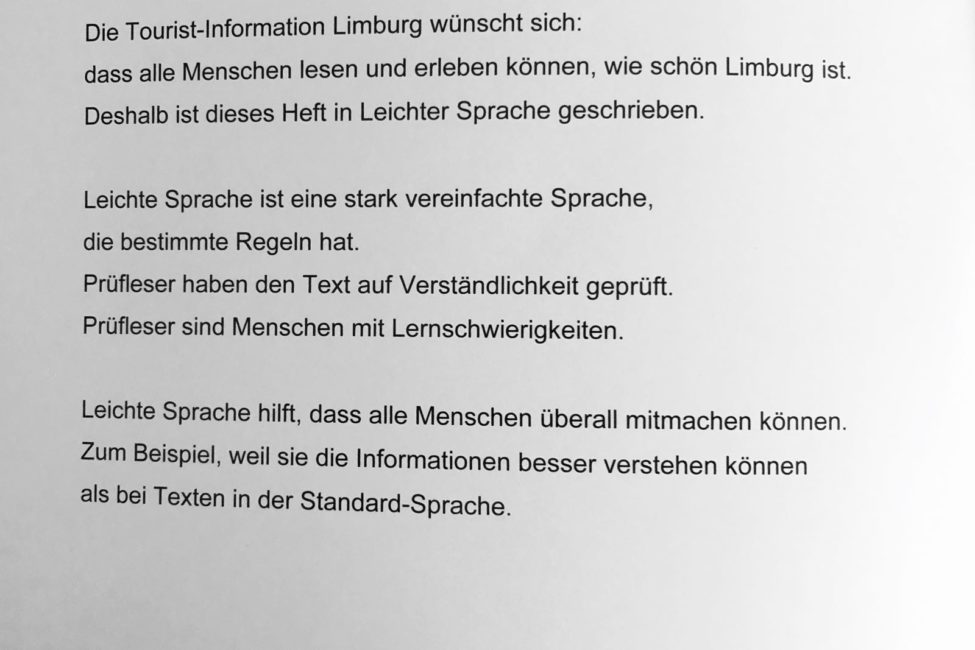 Limburger Altstadt - Informationen in leichter Sprache
