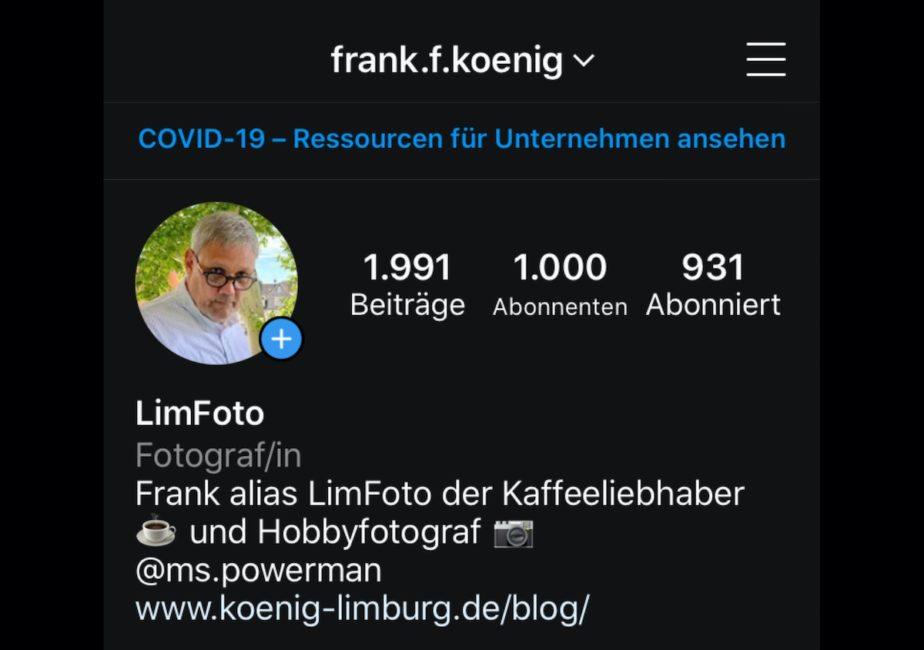 1.000 Abonnenten oder auch Follower