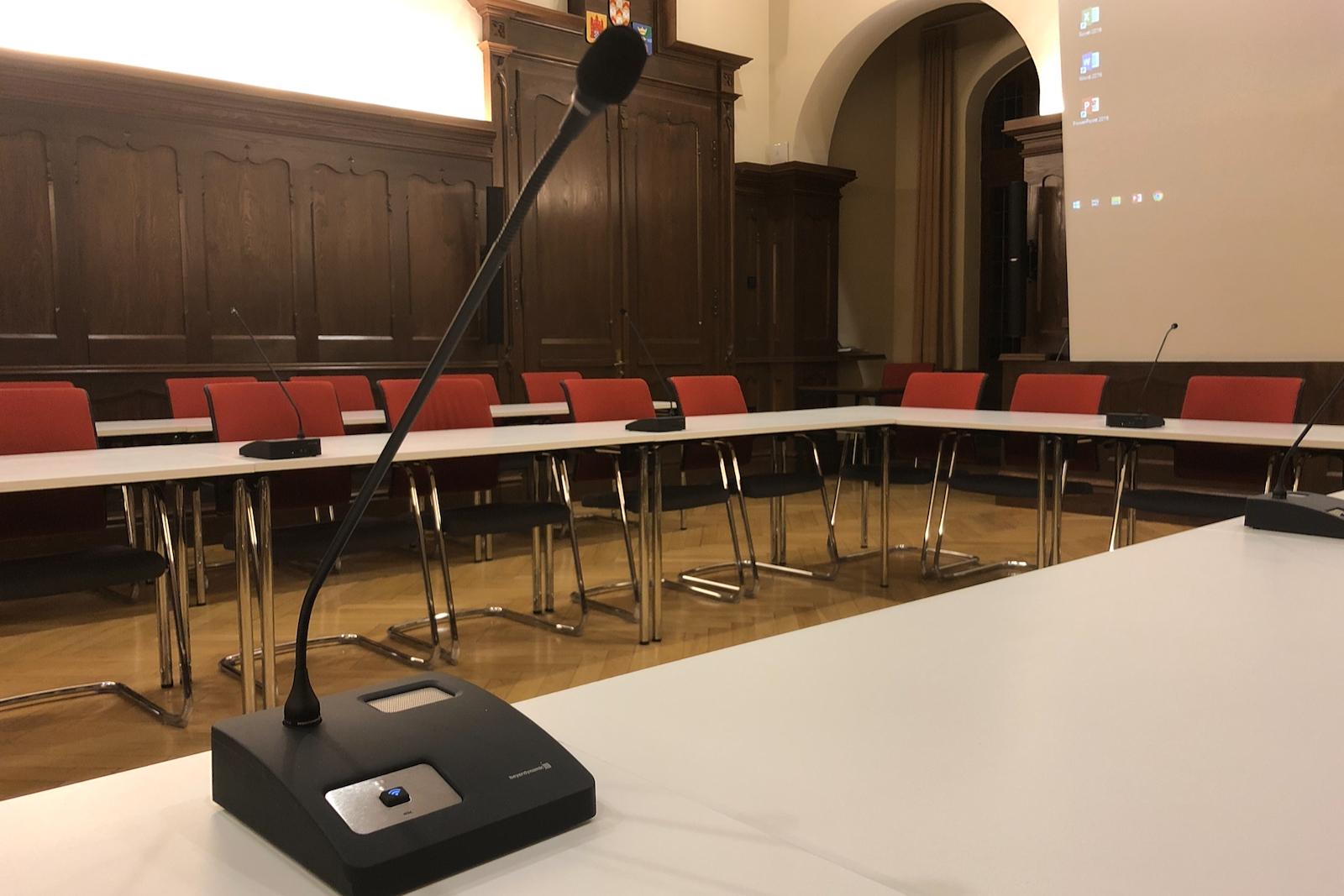 Ein Problem weniger – die Mikrofonanlage