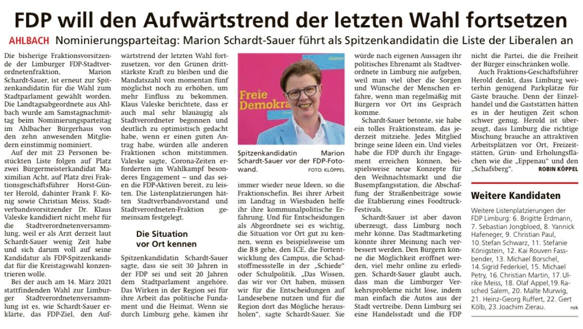 NNP: Kommunalwahl 2021 - Listenplatz vier Frank F. König