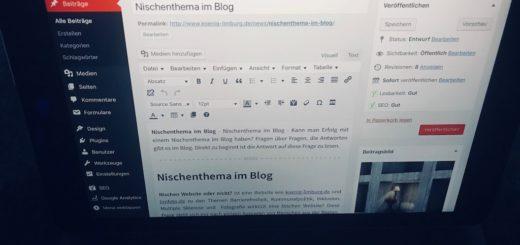 Nischenthema im Blog