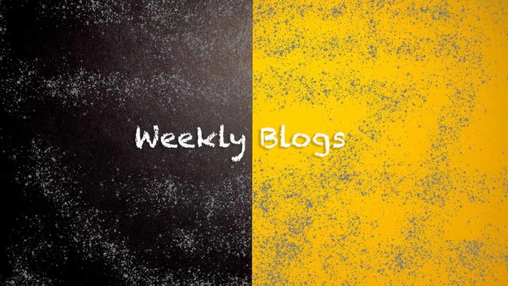 2021 - Weekly Blogs