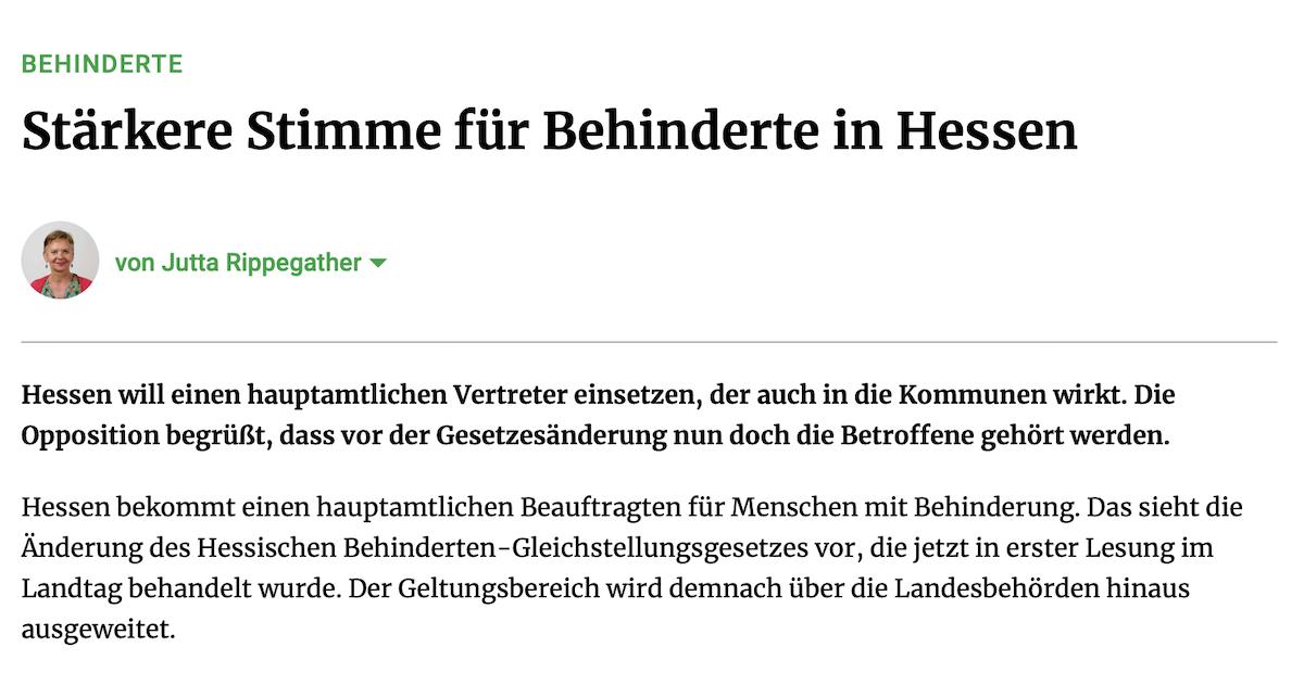 Behindertengleichstellungsgesetz in Hessen