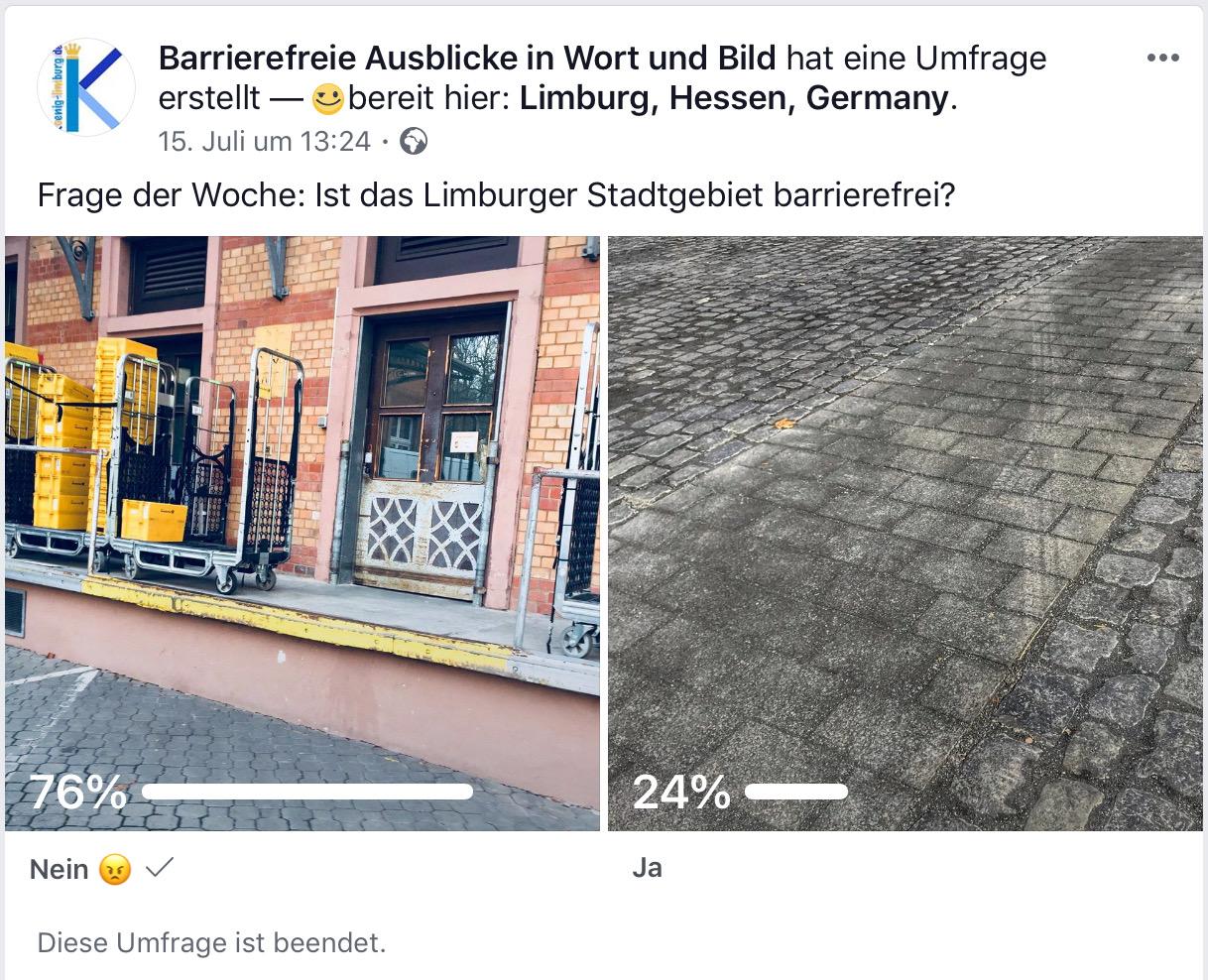 Ist das Limburger Stadtgebiet barrierefrei?