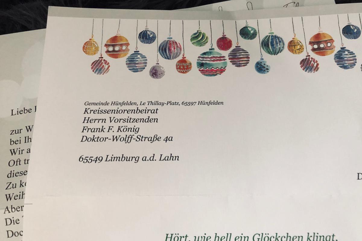 Weihnachtspost - Danke