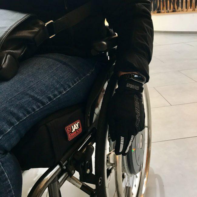 Rollstuhlhandschuhe Windstopper geschlossen