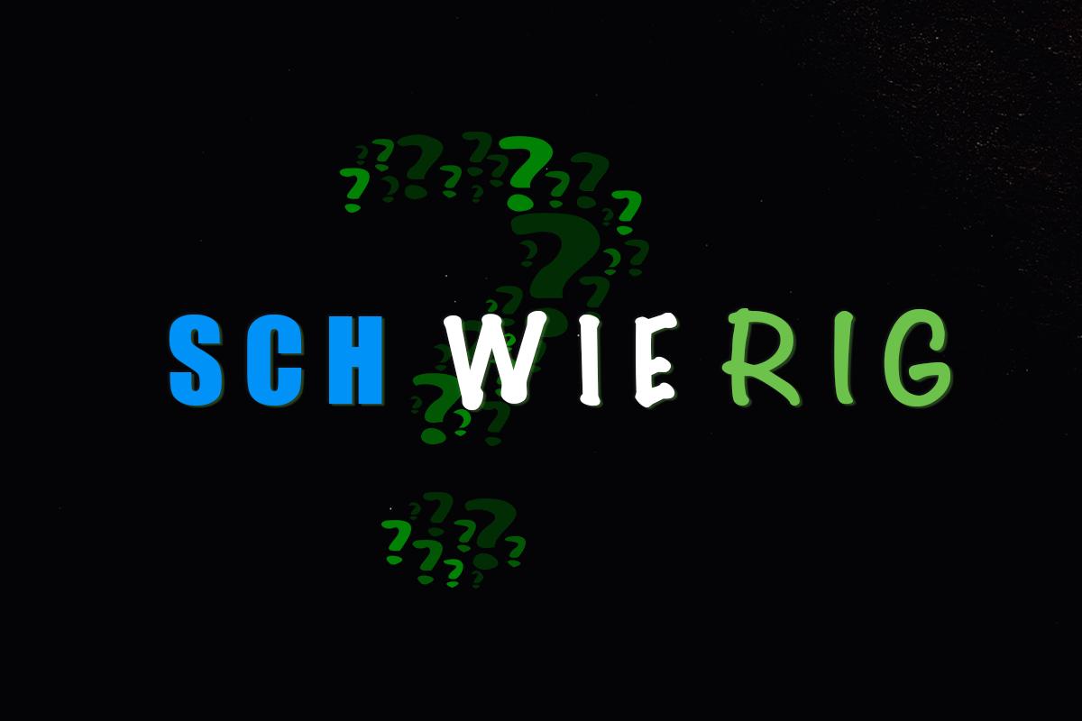 """Schriftzug """"sch wie rig"""""""